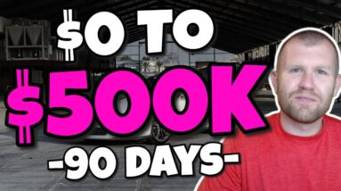 Learn How I Build a $500,000 Business in 90 Days With Zero Contacts & Only $100 Cash!