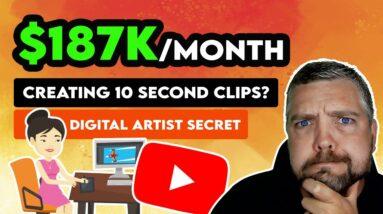 $187K/Month Uploading 10 Second YouTube Shorts?   Make Money Online