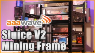 aaawave 12 GPU Sluice V2 Open Mining Rig Frame Review