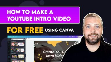 How To Make a YouTube Intro Video Free With Canva   YouTube Intro Video Tutorial