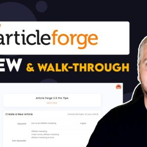 Article Forge Review and Tutorial | Example Articles