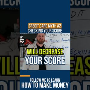 Credit Card MYTH #2: Checking Your Score #shorts
