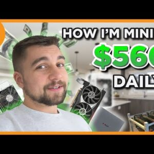 I'm EARNING $560 A DAY at home MINING BITCOIN and DOGE?!