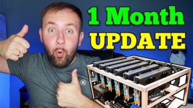 My Ethereum Mining Rig - 1 Month Update ( Is It Worth It ) My Electric Bill 😭