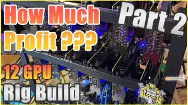 How much is it making??? 12 GPU Rig Build Pt 2 | Ethereum Crypto Mining Rig | Parallel Miner ZSX