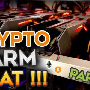 You won't believe the HEAT in the Crypto GPU Mining farm !!!