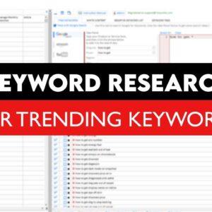 Keyword Research For Trending Keywords | Keyword Research Tool