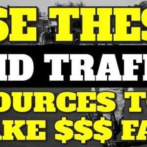 GET TARGETED TRAFFIC FAST! (Best Paid Traffic Sources For Affiliate Marketing 2021)