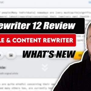 Spin Rewriter 12 Review | Full Demo + Updates